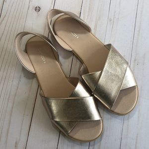 H&M Rose Gold Crossover Strap Sandals - 39